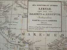 CARTE XIXe ORA MARITIMA & INTERNA  LYBAE  OASIBUS et AEGYPTO