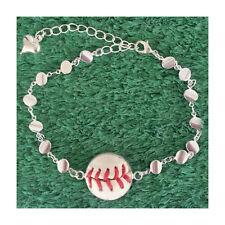 Baseball Charm Bracelet Made From a Real Baseball
