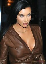GLOSSY PHOTO PICTURE 8x10 Kim Kardashian Long Straight Hair And Black