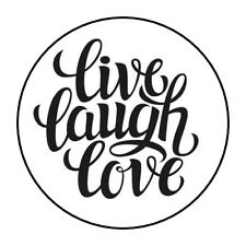 "30 Live Laugh Love Envelope Seals Labels Stickers 1.5"" Round"