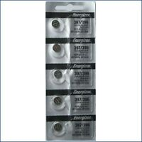 ENERGIZER 397/396 SR726SW SR726W (5 piece) WATCH BATTERY NEW Exp.2024