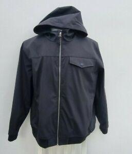 NEW Men's Burton Black Hooded Zip Bomber Jacket Top Size XXL 2XL