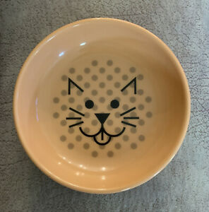 Ecoware Cat Dish Sustainable Bamboo Plant Material Shallow Wide Bowl 8oz Great