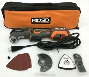 RIDGID R28602 JobMax Multi-Tool Tool-Free Head 4 Amp Corded Oscillating, LN