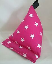 Bean bag cushion Tablet kindle ipad ebook  stand holder pink white stars gift