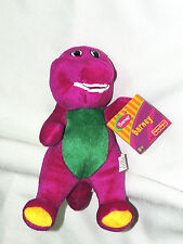 "NEW~BARNEY THE PURPLE DINOSAUR PLUSH DOLL 7-1/2""  FISHER PRICE"