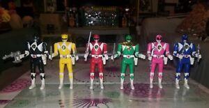 Mighty Morphin Power Rangers Vintage 1993 Bandai Flip Head Figures Lot of 6