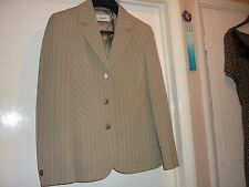 Jacket size 12 washable, German, cream with soft lines, great tailoring