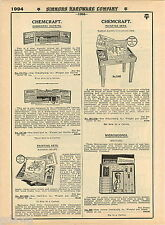 1935 ADVERT Chemcraft Toy Play Chemistry Sets Outfits Meccano Microscopes