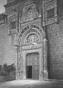 SPAIN Toledo Santa Cruz Museum Hospital - 1860s Antique Engraving Print