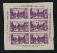 SCOTT #750 1934 MOUNT RAINER SOUVENIR SHEET ISSUE MNH OG VF CAT $30!