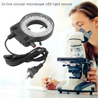 Plastic 144LEDs 60000LM Adjustable Microscope Ring Light Illuminator Lamp US