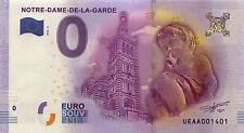 BILLET ZERO 0€ SOUVENIR MARSEILLE N-D DE LA GARDE 2016 PAS JETON FRENCH BANKNOTE