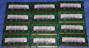 HYNIX 12x 512MB (6GB) SODIMM PC2-5300S-555-12 667Mhz DDR2 SDRAM LAPTOP MEMORY