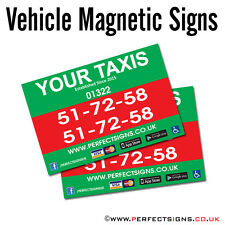 Magnetic Vehicle Signs Digitally Printed Car Magnet Full Colour 450mmX300mm X 2