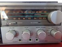 Electro Brand AM/FM Stereo Receiver-Cassette Deck-8 Track Player 9910