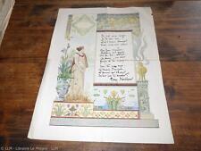 1890.Poème autographe.Tony Revillon