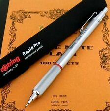 rOtring Rapid Pro 0.7mm Mechanical Pencil Matal Silver Body [NEW] Germany