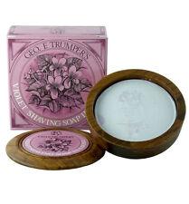 GEO F. TRUMPER Violet Hard Shaving Soap in Wooden Bowl, 80 grams