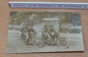 schönes altes Foto mit zwei englischen Motorrädern »Zenith«, um 1928