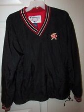 NCAA Maryland Terps V-Neck Pullover Adult Medium Black Terrapins by Champion EUC