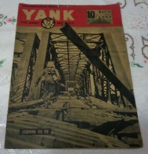 YANK THE ARMY WEEKLY VOL.2 NO.11 STORMING THE PO MEDITERRANEAN EDITION 1945