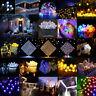 LED Solar Cherry Blossom String Light Fairy Outdoor Garden Decor Xmas Party Lamp