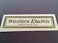 Antique Vintage Telephone Water Decal - Western Electric Clear - SKU - 24574