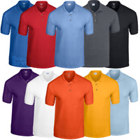 Gildan POLO SHIRT GOLF SPORTS SUMMER DRYBLEND WICKING COLLAR SMART COLOURS MEN'S