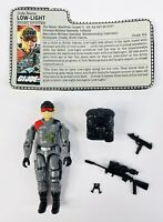 GI Joe Figure 1986 Low Light complete with file card, Tri Pod & New O ring