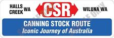 Canning Stock Route CSR Iconic Journey of Australia Bumper Sticker