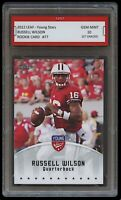 RUSSELL WILSON 2012 LEAF YOUNG STARS 1ST GRADED 10 ROOKIE CARD Seattle Seahawks