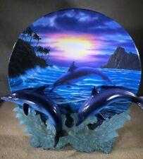 "Dolphin Decorative Plate""Sunset Splash"" Hamilton Serenity at Sea Collection 1999"