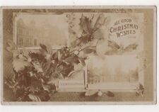 London, All Good Wishes from Kensington 1909 RP Postcard B729