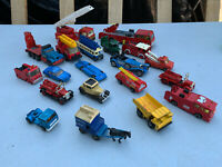 20 vintage Matchbox Corgi Tonka Days Gone etc fire engines cars job lot MRE10042