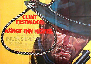 Clint Eastwood in HANG 'EM HIGH rare 2sh from 1967