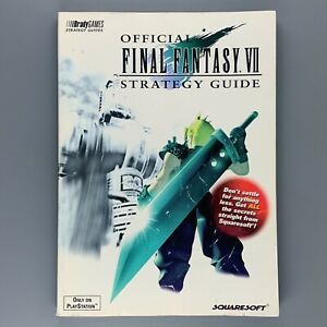 PS1 Final Fantasy VII 7 Sony Brady Strategy Guide Playstation Squaresoft