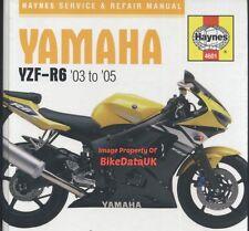 VGC Haynes Yamaha YZF-R6 (2003-2005) Repair Manual Book 600 (Injection) Sports