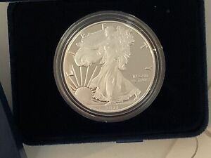 2021-W Proof $1 Type 1 American Silver Eagle Box OGP & COA b17