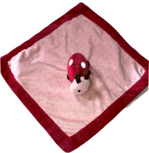 Carters Pink Lady Bug Lovey Security Blanket Comfy Pink Pink Fleece Gift Baby