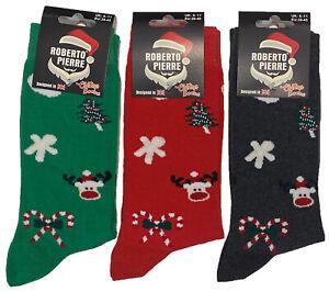 Mens 3 / 6 Pair Christmas Xmas Novelty Gift Stocking Filler Cotton Socks UK 6-11