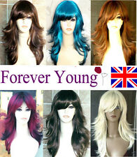 Ladies Long Blonde Black Brown Fashion Wig Hair in Tappered Style Premium Wigs