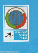 CAMPIONI dello SPORT 1973/74-Figurina n.357- TENNIS -SCUDETTO -Rec