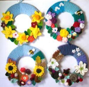 Handmade Crochet Flower Wreaths