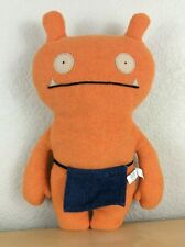 "UglyDoll 14.5"" Wage Plush, Orange with Blue Denim Apron, 2002"