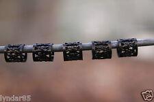 30 Black Dreadlock Beads Hair Beads 7mm Hole (9/32') + FREE Tibetan Silver Bead