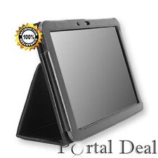 New Leather Folio Stand Case Cover for Samsung Galaxy Note 10.1 Tablet Black
