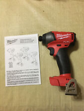 New Milwaukee 2853-20 M18 FUEL 18V LithiumIon Brushless 1/4 in Hex Impact Driver