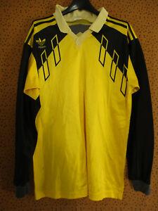 Maillot Adidas vintage Jaune et noir Jersey 90'S Football Rétro Polyester - S
