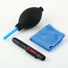 Lens Cleaning Cleaner Dust Pen Blower Cloth 3 in 1 Kit for DSLR VCR Camera